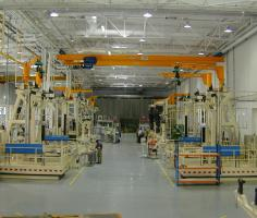 A380 engine thrust reverser assembly lines